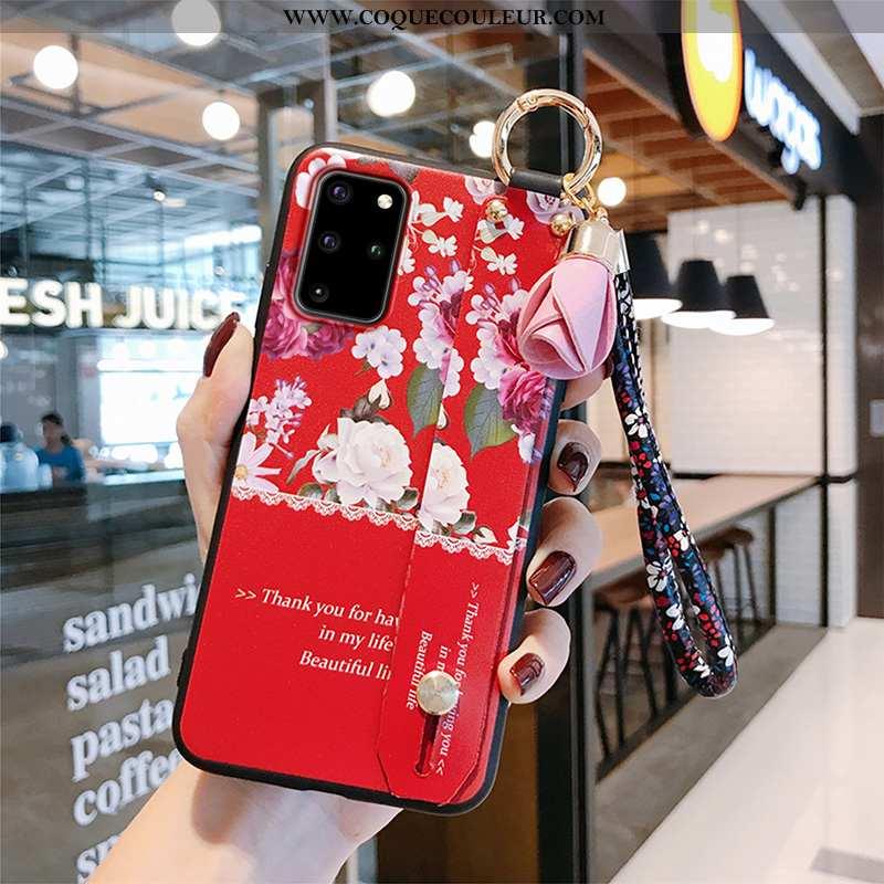 Étui Samsung Galaxy S20+ Tendance Silicone Étoile, Coque Samsung Galaxy S20+ Légère Rouge