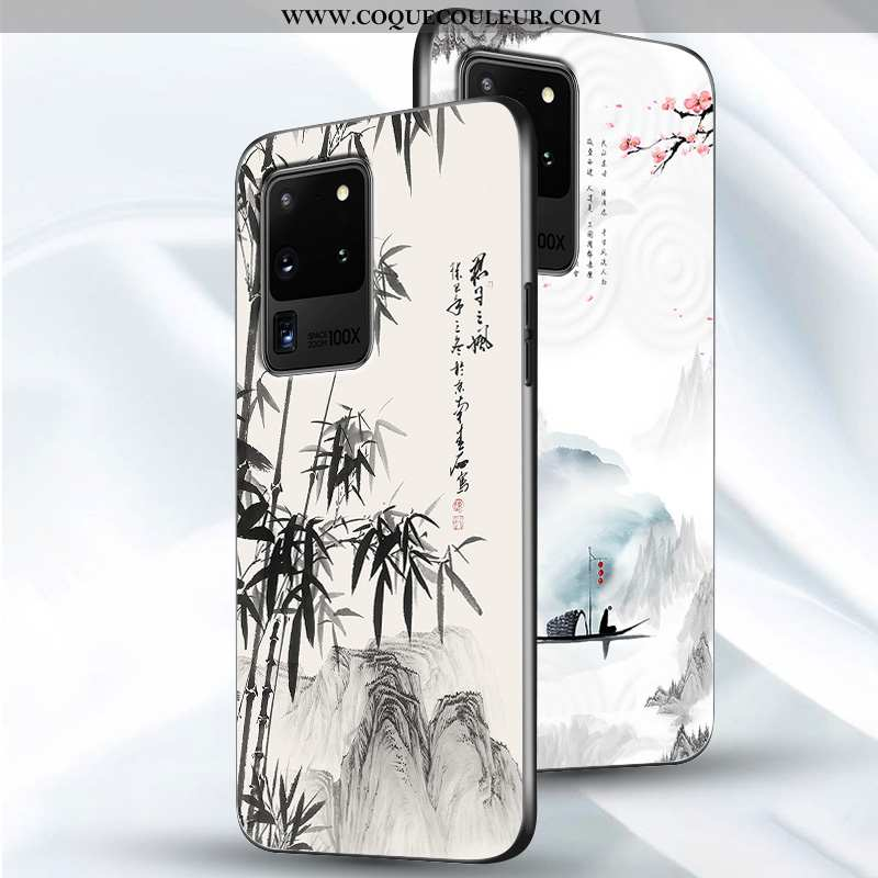 Étui Samsung Galaxy S20 Ultra Fluide Doux Blanc Tout Compris, Coque Samsung Galaxy S20 Ultra Silicon