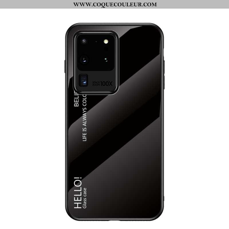 Étui Samsung Galaxy S20 Ultra Mode Net Rouge Tendance, Coque Samsung Galaxy S20 Ultra Protection Flu