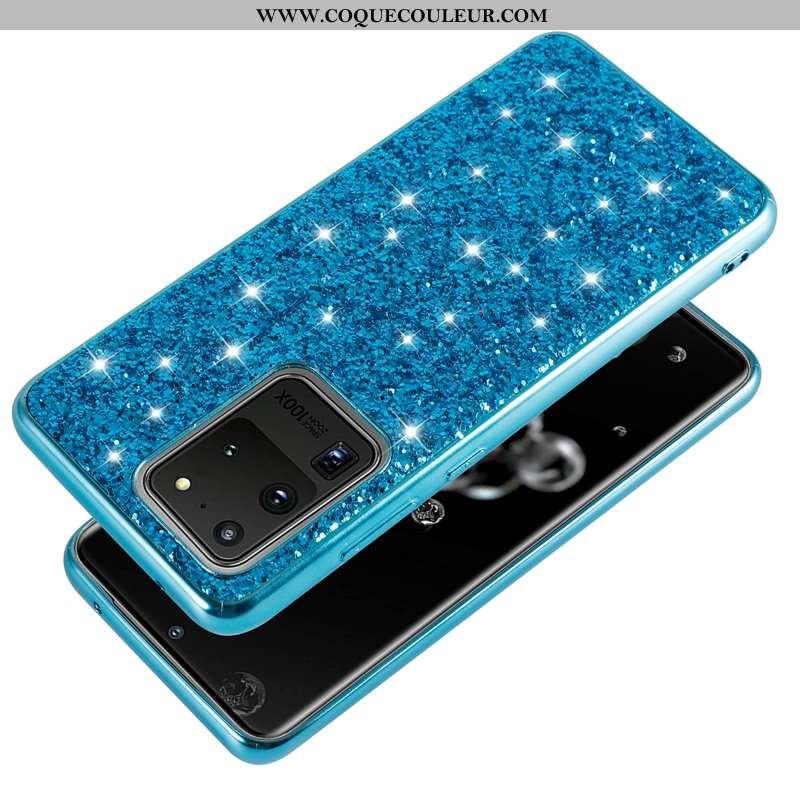 Étui Samsung Galaxy S20 Ultra Fluide Doux Luxe Net Rouge, Coque Samsung Galaxy S20 Ultra Silicone Bl