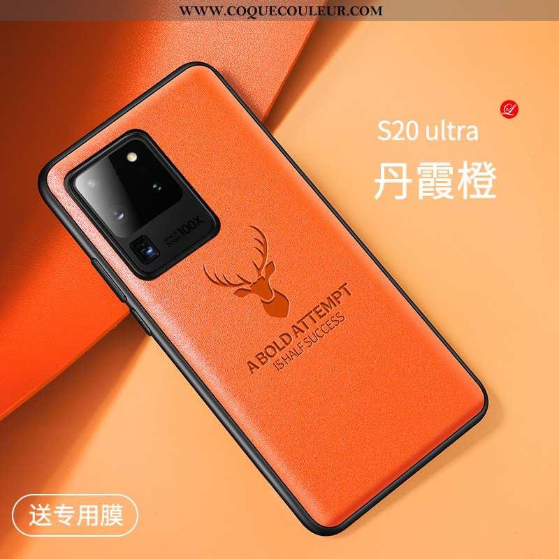 Housse Samsung Galaxy S20 Ultra Créatif Téléphone Portable Elk, Étui Samsung Galaxy S20 Ultra Cuir V