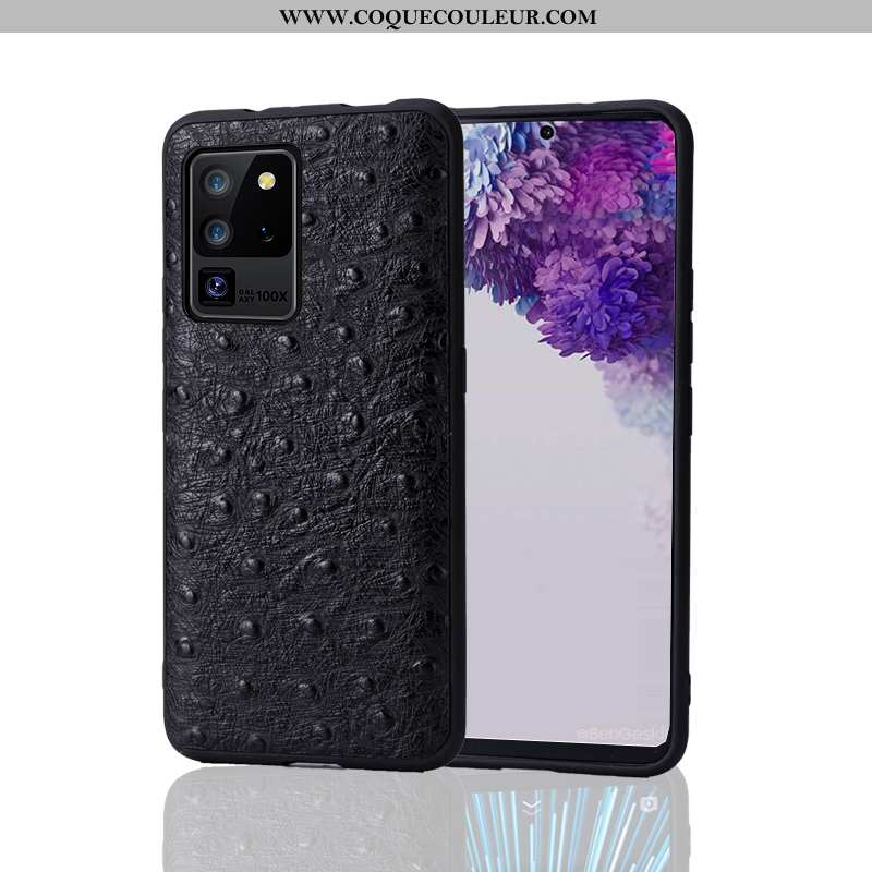 Coque Samsung Galaxy S20 Ultra Personnalité Bovins Cuir Haut, Housse Samsung Galaxy S20 Ultra Créati