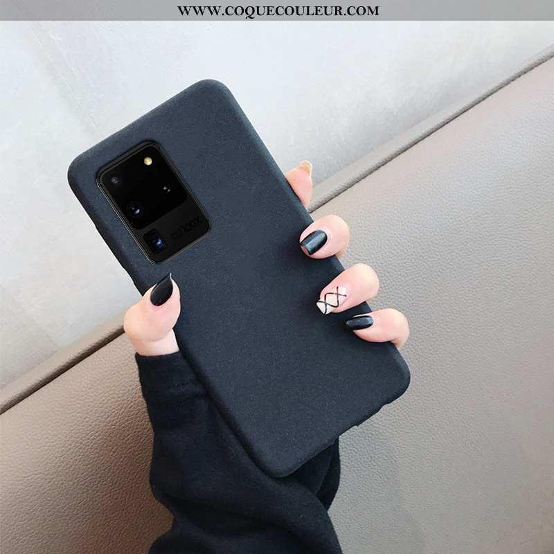 Housse Samsung Galaxy S20 Ultra Délavé En Daim Étui Protection, Samsung Galaxy S20 Ultra Tendance Fl
