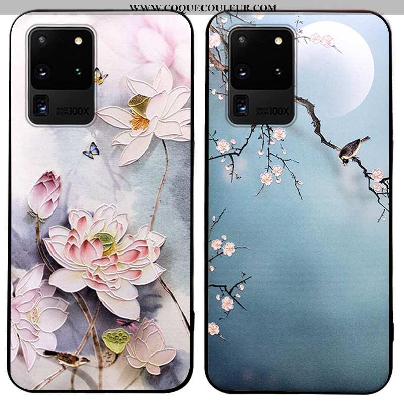 Housse Samsung Galaxy S20 Ultra Délavé En Daim Étui Coque, Samsung Galaxy S20 Ultra Personnalité Ble
