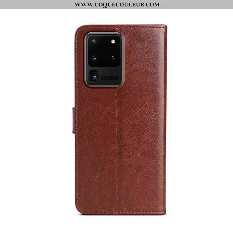 Housse Samsung Galaxy S20 Ultra Cuir Coque Étui, Étui Samsung Galaxy S20 Ultra Protection Téléphone