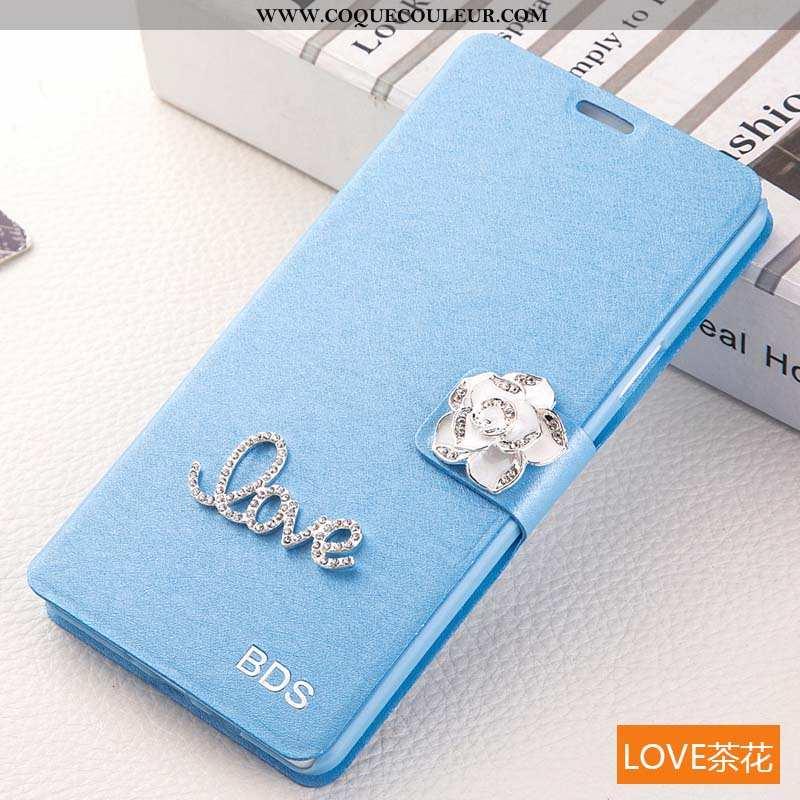 Coque Samsung Galaxy S6 Edge Protection Étui Bleu, Housse Samsung Galaxy S6 Edge Cuir Téléphone Port