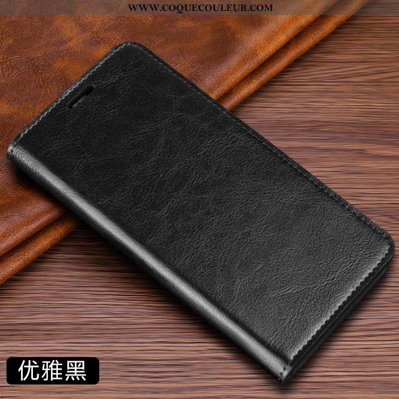 Étui Samsung Galaxy S6 Edge Cuir Véritable Noir Protection, Coque Samsung Galaxy S6 Edge Cuir