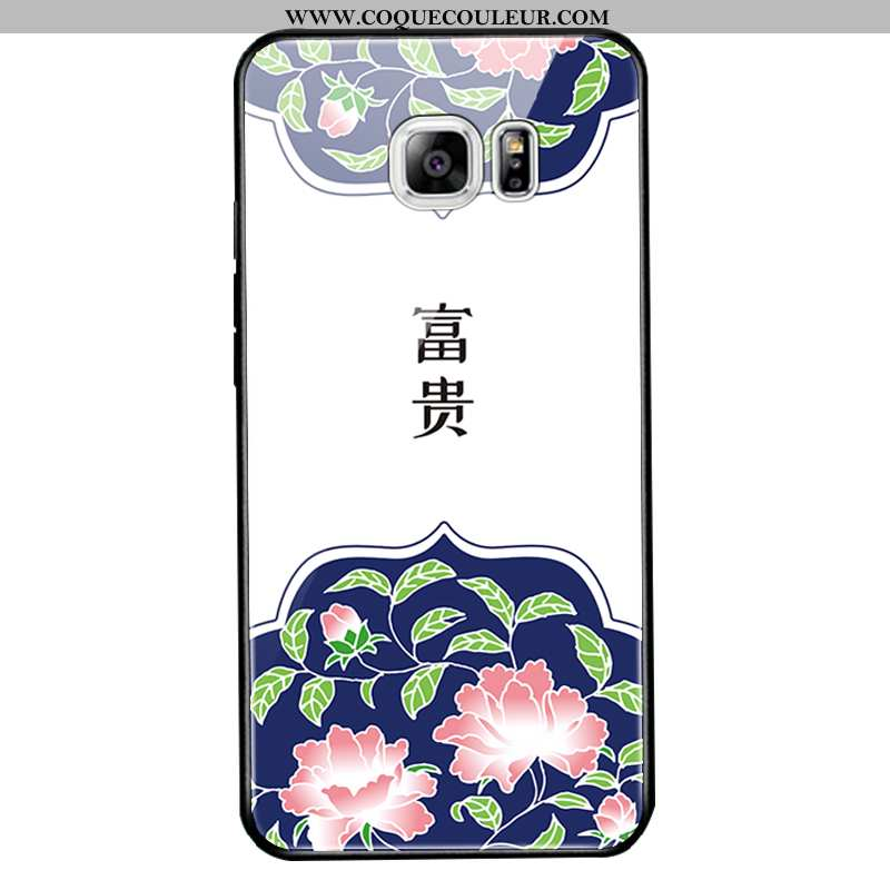 Étui Samsung Galaxy S6 Edge Protection Étoile Téléphone Portable, Coque Samsung Galaxy S6 Edge Verre