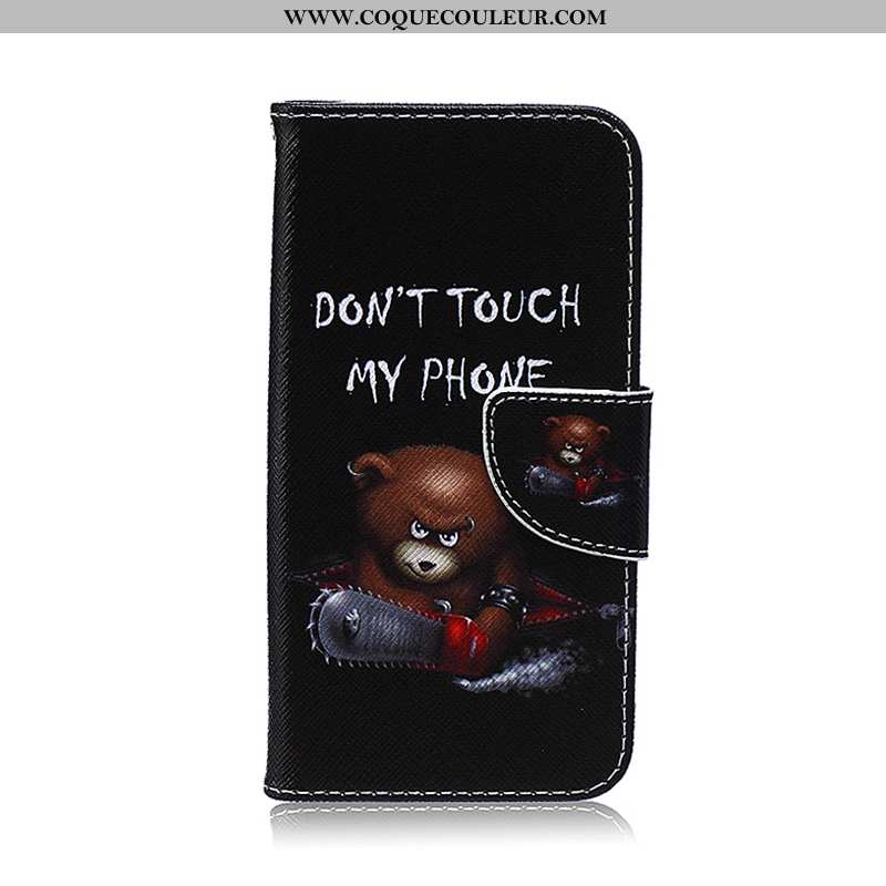 Housse Samsung Galaxy S6 Edge Dessin Animé Étoile Peinture, Étui Samsung Galaxy S6 Edge Cuir Noir