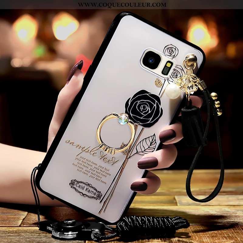 Housse Samsung Galaxy S6 Edge Personnalité Téléphone Portable Blanc, Étui Samsung Galaxy S6 Edge Ten