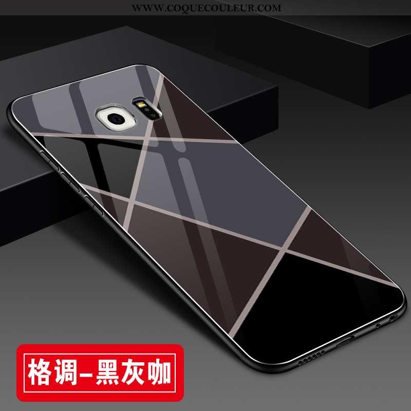 Coque Samsung Galaxy S6 Edge Protection Étoile Incassable, Housse Samsung Galaxy S6 Edge Verre Tout