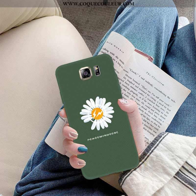 Coque Samsung Galaxy S6 Edge Fluide Doux Net Rouge Vert, Housse Samsung Galaxy S6 Edge Silicone Peti