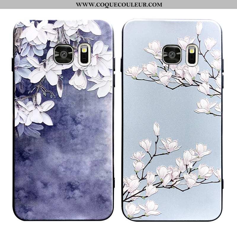 Étui Samsung Galaxy S6 Edge Fluide Doux Créatif Coque, Coque Samsung Galaxy S6 Edge Silicone Net Rou