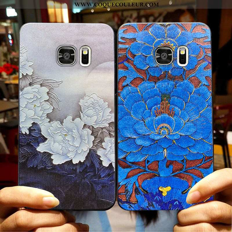 Étui Samsung Galaxy S6 Edge Fluide Doux Coque Délavé En Daim, Samsung Galaxy S6 Edge Silicone Protec