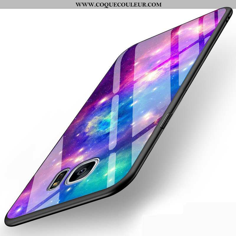 Housse Samsung Galaxy S6 Edge Mode Tout Compris Étoile, Étui Samsung Galaxy S6 Edge Protection Créat