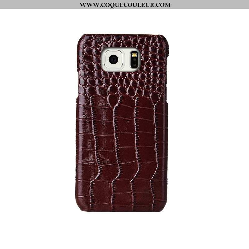 Coque Samsung Galaxy S6 Edge Créatif Modèle Fleurie Coque, Housse Samsung Galaxy S6 Edge Cuir Vérita