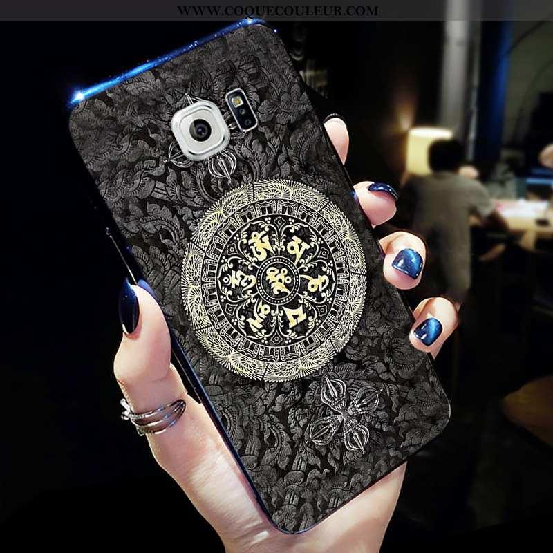 Coque Samsung Galaxy S6 Délavé En Daim Étoile Silicone, Housse Samsung Galaxy S6 Personnalité Tendan
