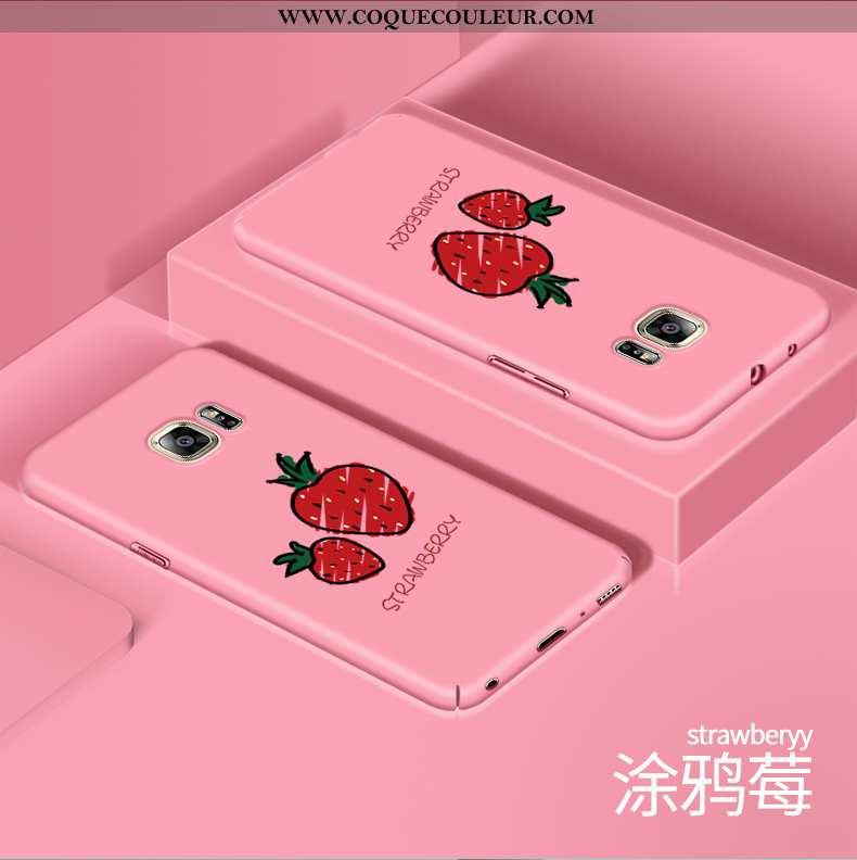 Coque Samsung Galaxy S6 Tendance Étoile Charmant, Housse Samsung Galaxy S6 Protection Créatif Rose
