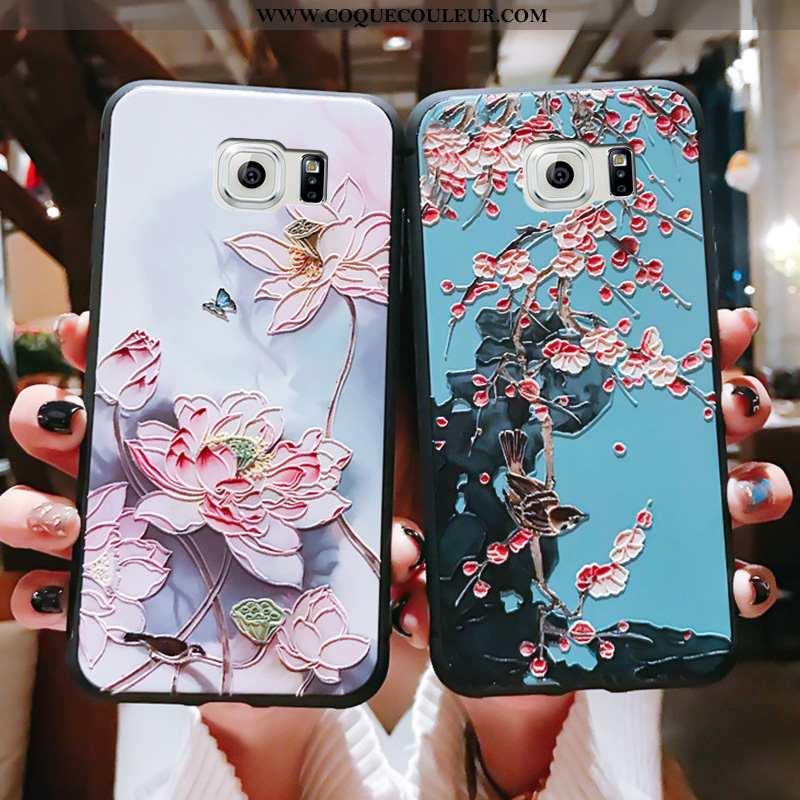 Housse Samsung Galaxy S6 Fluide Doux Tout Compris Incassable, Étui Samsung Galaxy S6 Silicone Légère