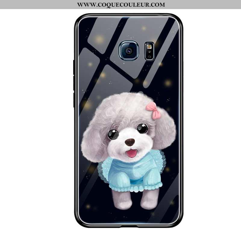 Coque Samsung Galaxy S6 Charmant Dessin Animé Net Rouge, Housse Samsung Galaxy S6 Tendance Étoile No