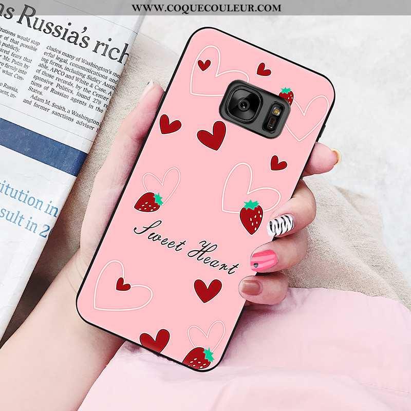 Housse Samsung Galaxy S6 Personnalité Peinture Amoureux, Étui Samsung Galaxy S6 Fluide Doux Coque Ro