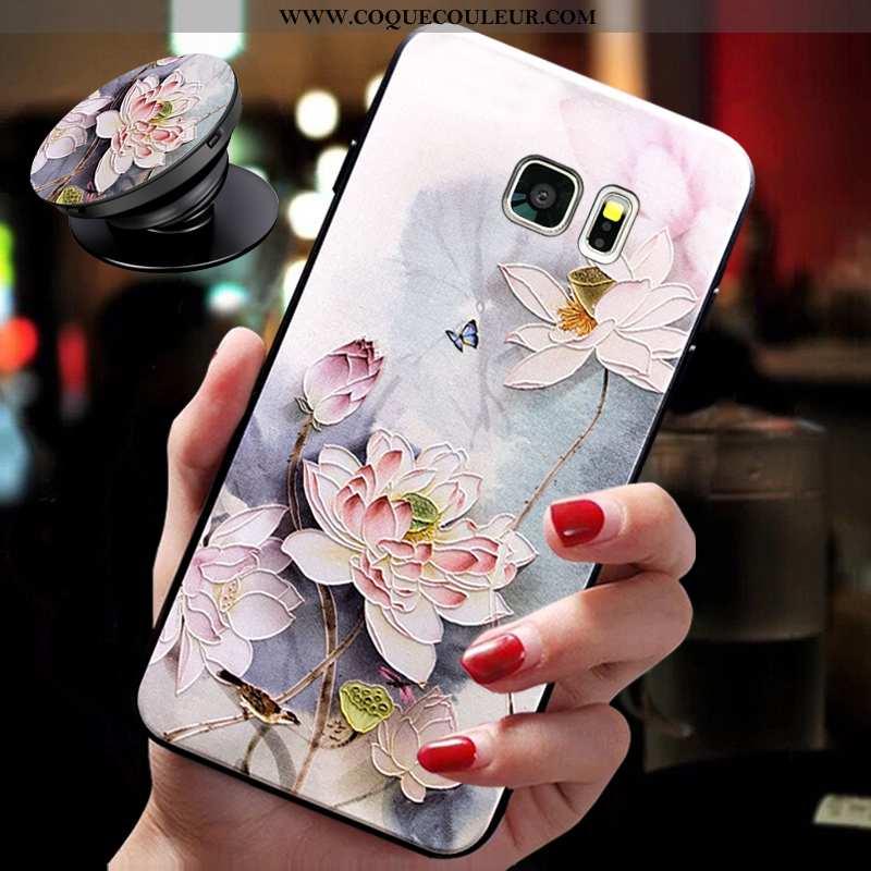 Housse Samsung Galaxy S6 Cou Suspendu Légère Étoile, Étui Samsung Galaxy S6 Ultra Tendance Rose