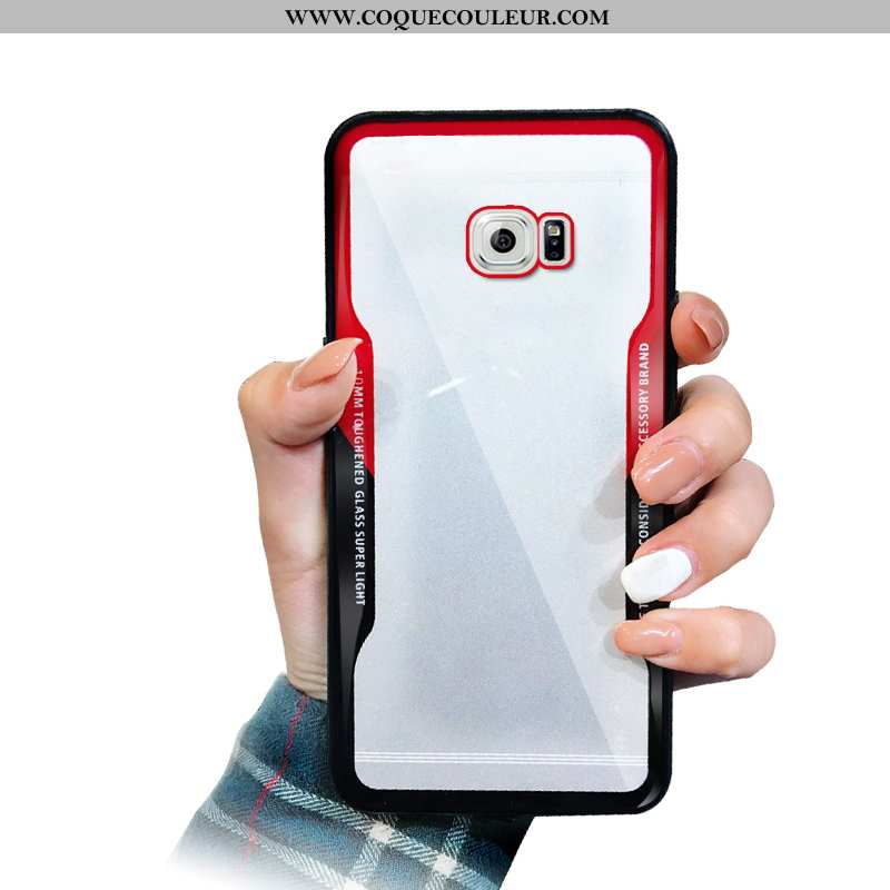 Coque Samsung Galaxy S6 Mode Téléphone Portable Rouge, Housse Samsung Galaxy S6 Silicone Simple Roug