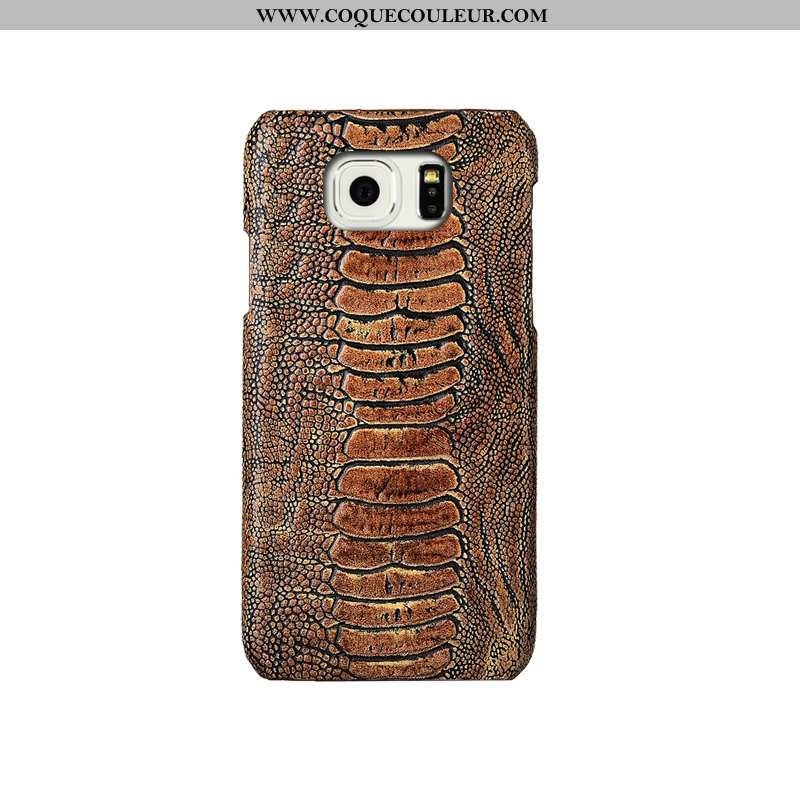 Coque Samsung Galaxy S6 Luxe Téléphone Portable, Housse Samsung Galaxy S6 Créatif Protection Khaki