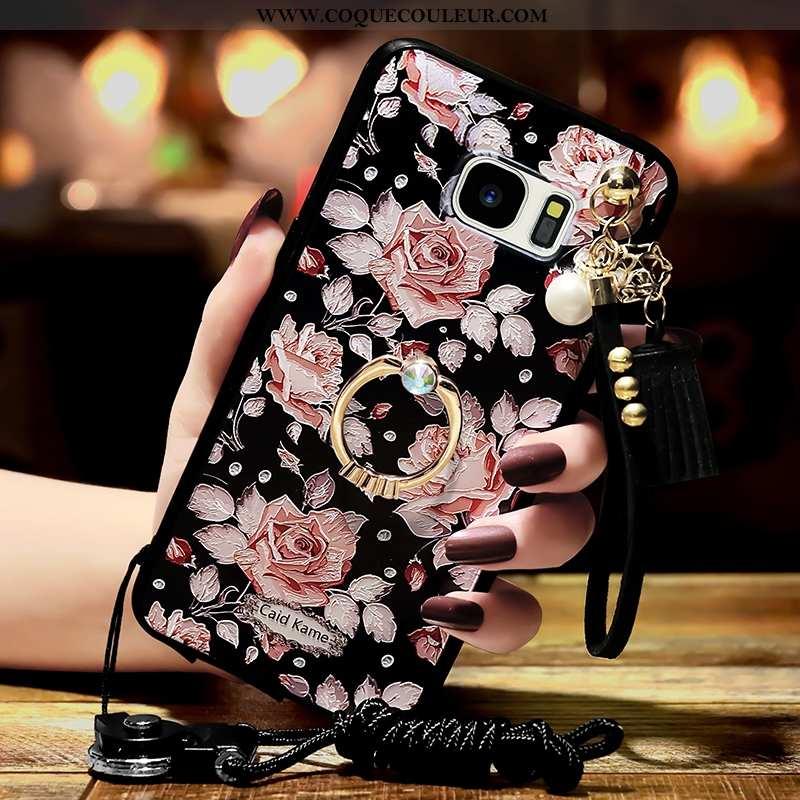 Étui Samsung Galaxy S6 Tendance Coque Étoile, Samsung Galaxy S6 Personnalité Noir