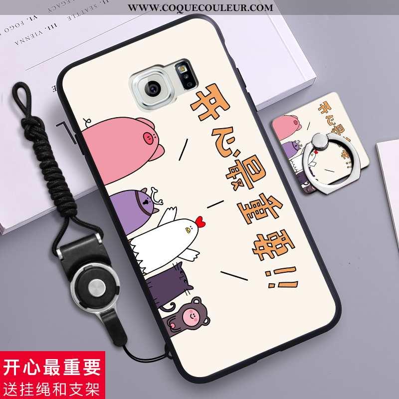 Housse Samsung Galaxy S6 Protection Téléphone Portable Silicone, Étui Samsung Galaxy S6 Délavé En Da