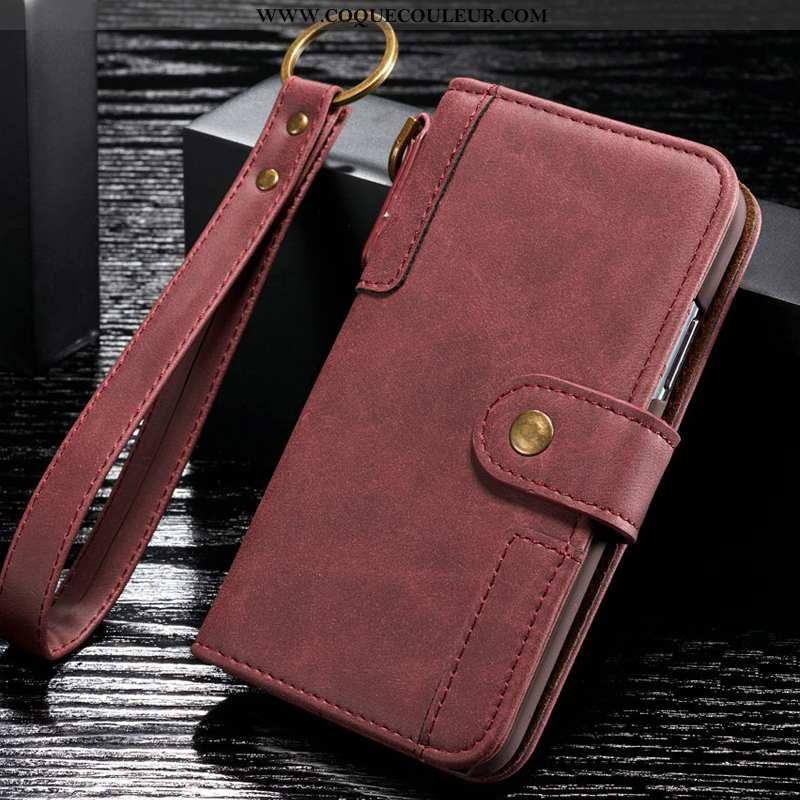Étui Samsung Galaxy S6 Cuir Véritable Coque Téléphone Portable, Samsung Galaxy S6 Luxe Rouge