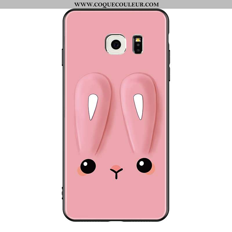 Housse Samsung Galaxy S6 Fluide Doux Tendance Coque, Étui Samsung Galaxy S6 Mode Simple Rose