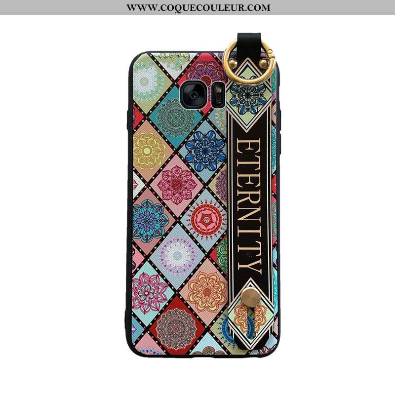 Coque Samsung Galaxy S6 Tendance Net Rouge Vintage, Housse Samsung Galaxy S6 Silicone Style Chinois