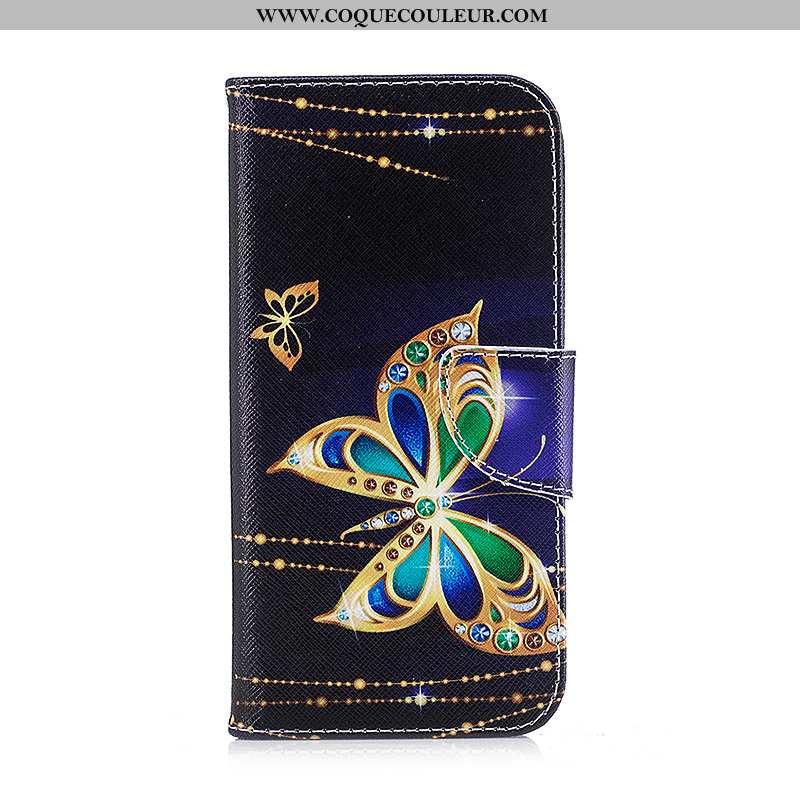 Coque Samsung Galaxy S7 Edge Cuir Peinture Coque, Housse Samsung Galaxy S7 Edge Protection Noir