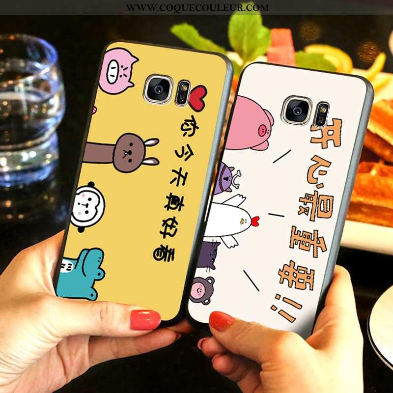 Coque Samsung Galaxy S7 Edge Dessin Animé Tout Compris, Housse Samsung Galaxy S7 Edge Fluide Doux Té
