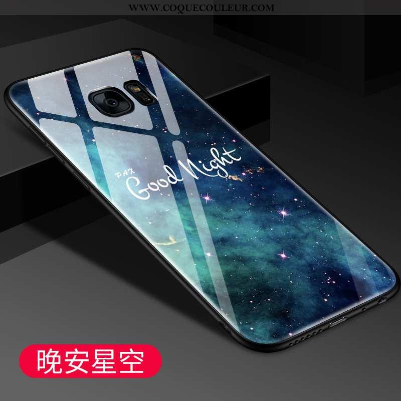 Étui Samsung Galaxy S7 Edge Tendance Coque Bleu, Samsung Galaxy S7 Edge Protection Étoile Bleu