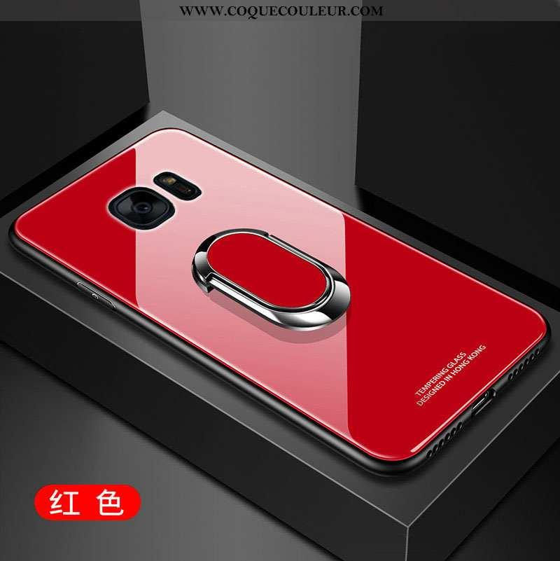 Coque Samsung Galaxy S7 Edge Silicone Verre Étoile, Housse Samsung Galaxy S7 Edge Protection Membran