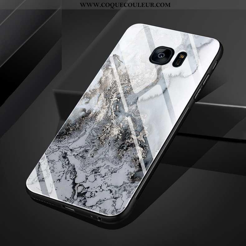 Housse Samsung Galaxy S7 Edge Créatif Coque Grand, Étui Samsung Galaxy S7 Edge Modèle Fleurie Mode B