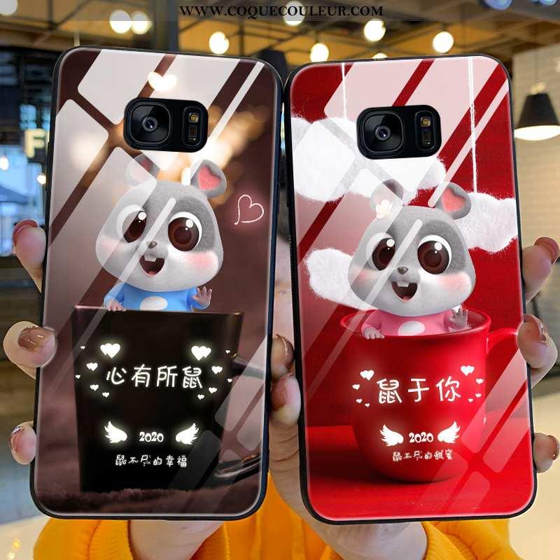 Housse Samsung Galaxy S7 Edge Tendance Amoureux Étui, Étui Samsung Galaxy S7 Edge Légère Charmant Ro