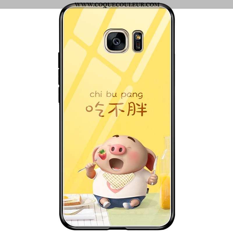 Coque Samsung Galaxy S7 Edge Créatif Charmant Étoile, Housse Samsung Galaxy S7 Edge Dessin Animé Net