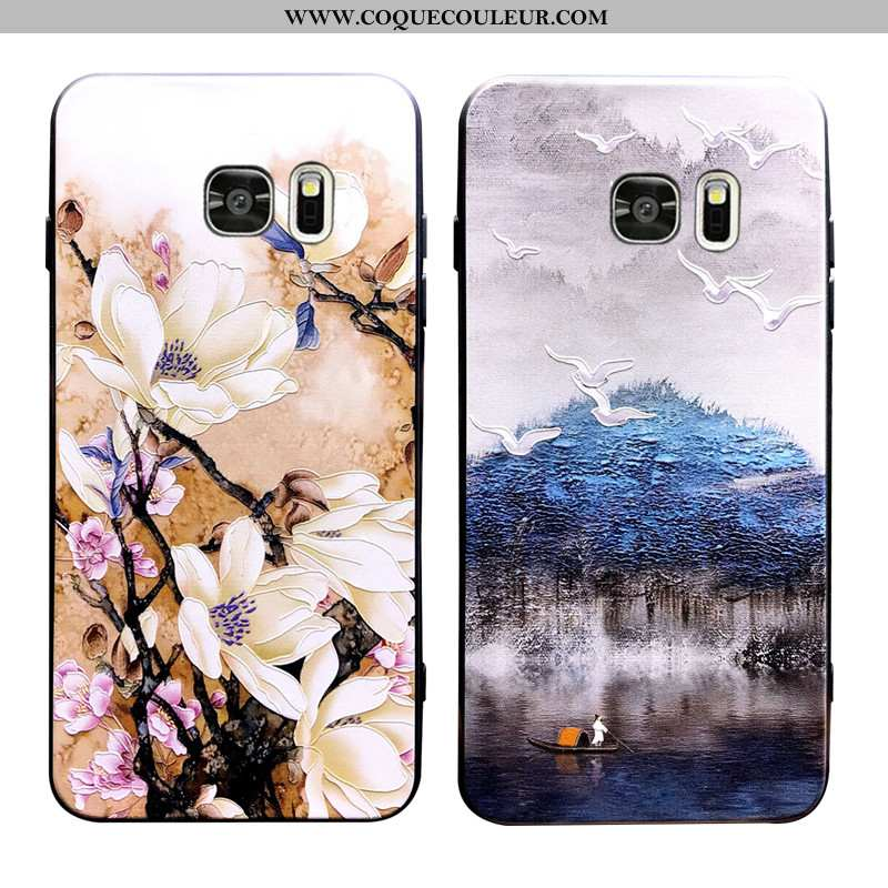 Étui Samsung Galaxy S7 Edge Ornements Suspendus Incassable Tendance, Coque Samsung Galaxy S7 Edge Pe