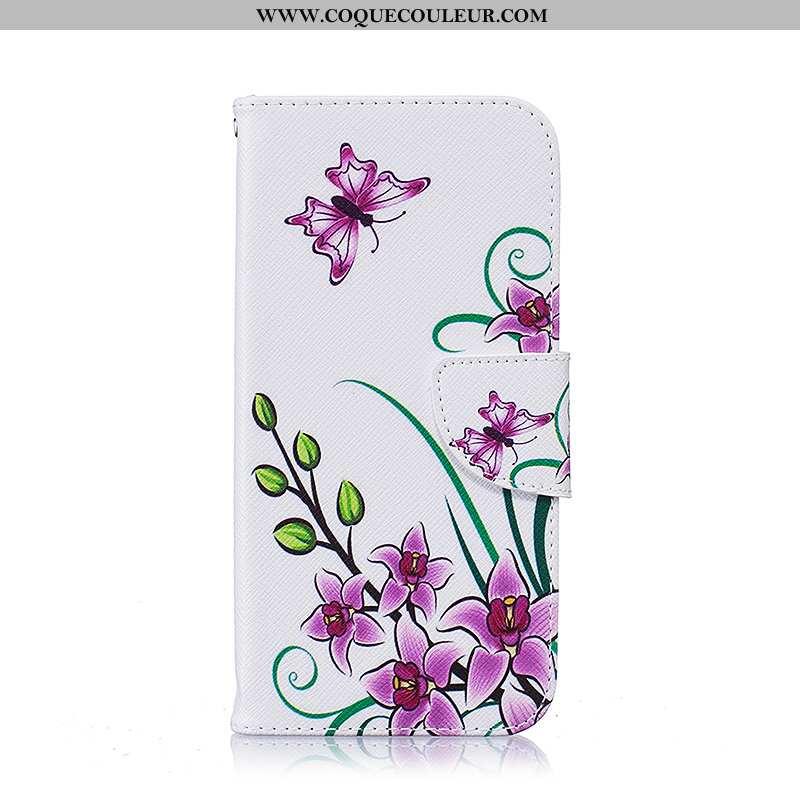 Housse Samsung Galaxy S7 Edge Cuir Blanc Téléphone Portable, Étui Samsung Galaxy S7 Edge Protection