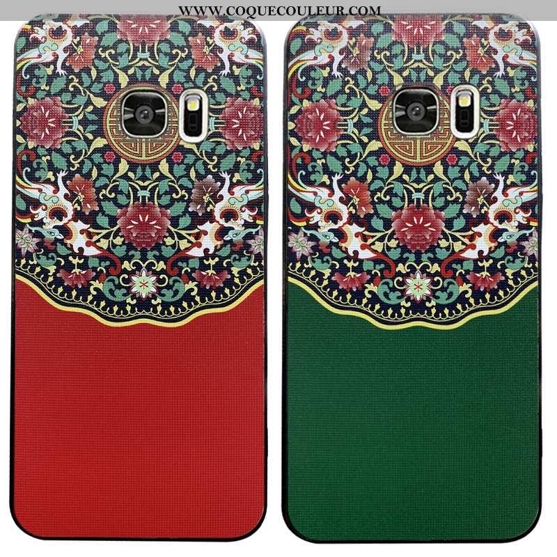 Étui Samsung Galaxy S7 Silicone Créatif Fluide Doux, Coque Samsung Galaxy S7 Protection Verte