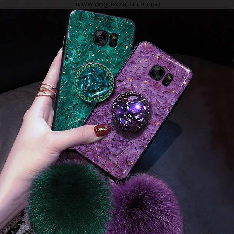 Housse Samsung Galaxy S7 Ultra Personnalité Violet, Étui Samsung Galaxy S7 Légère Fluide Doux Violet