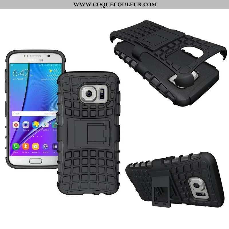 Coque Samsung Galaxy S7 Protection Noir Coque, Housse Samsung Galaxy S7 Modèle Fleurie Nouveau