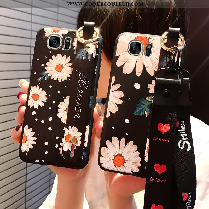 Coque Samsung Galaxy S7 Tendance Noir Protection, Housse Samsung Galaxy S7 Fluide Doux