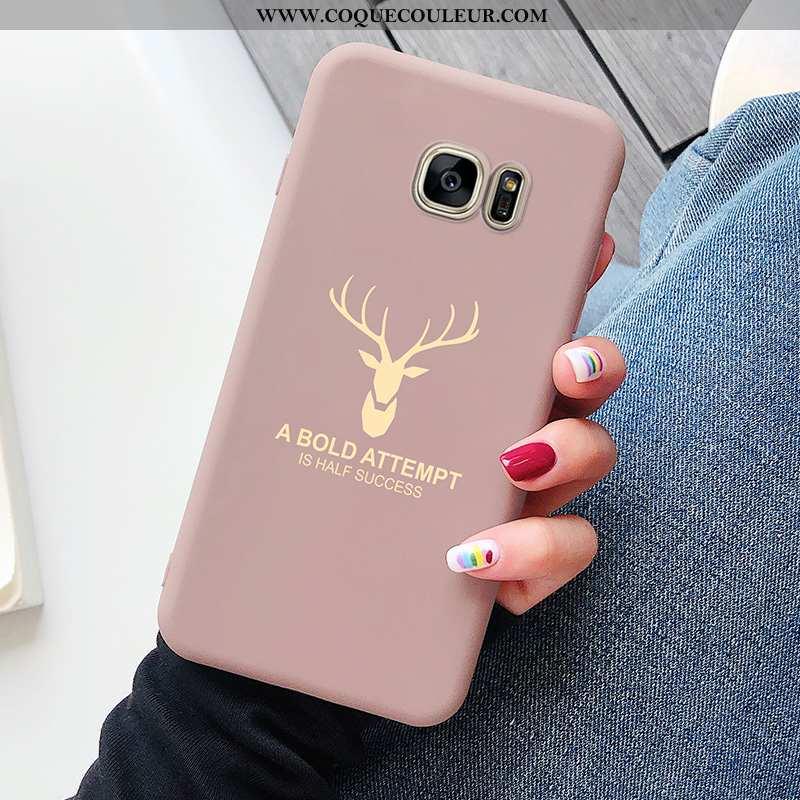 Coque Samsung Galaxy S7 Luxe Étoile Incassable, Housse Samsung Galaxy S7 Personnalité Luxe Rose
