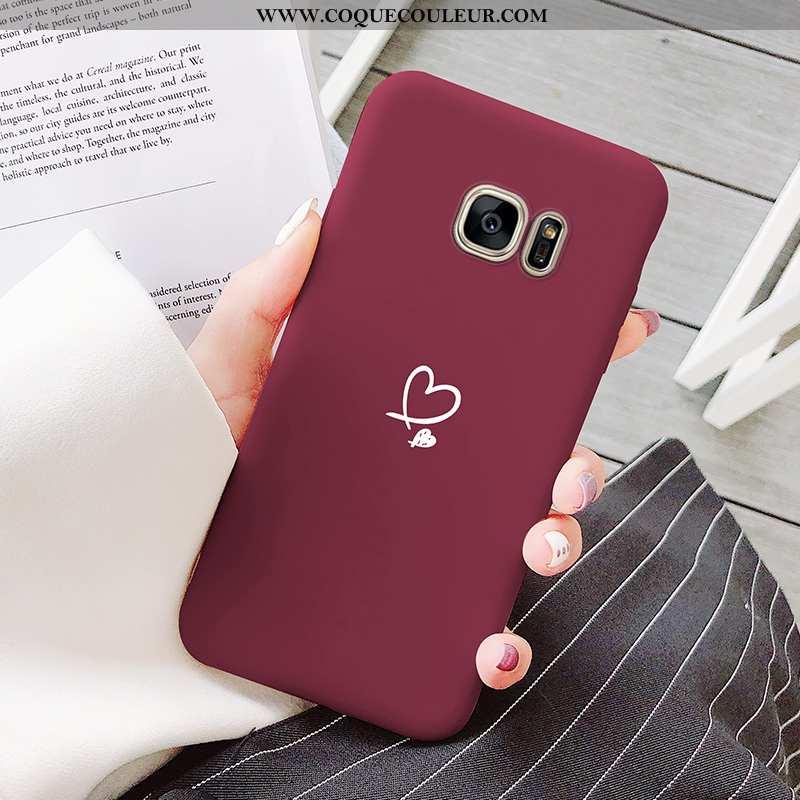 Housse Samsung Galaxy S7 Dessin Animé Téléphone Portable Incassable, Étui Samsung Galaxy S7 Ultra Te