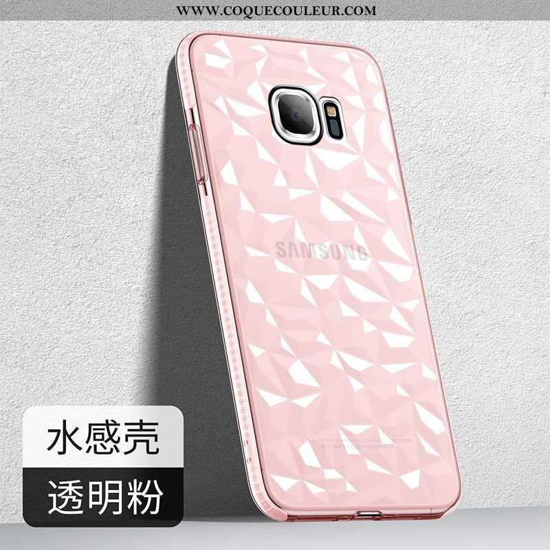 Housse Samsung Galaxy S7 Fluide Doux Étui Tendance, Samsung Galaxy S7 Silicone Délavé En Daim Rose