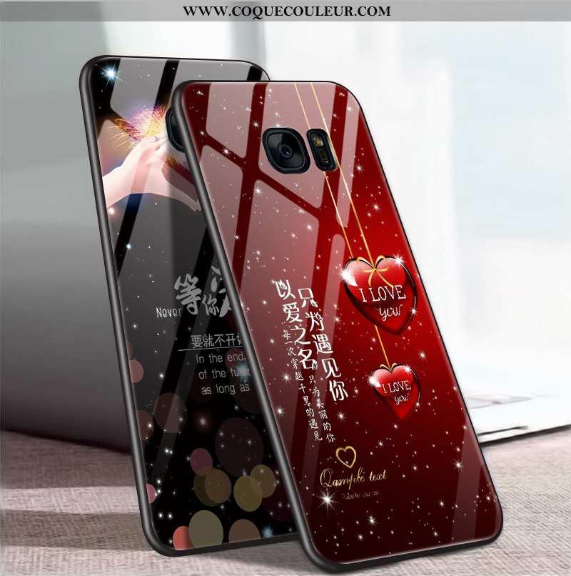 Coque Samsung Galaxy S7 Créatif Miroir Incassable, Housse Samsung Galaxy S7 Protection Rouge
